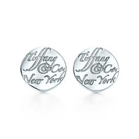 "Tiffany & Co. - Tiffany Notes ""Tiffany & Co.®"" earrings in sterling silver, mini."