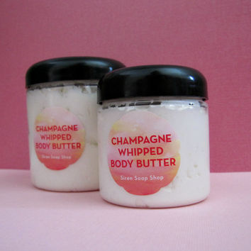 Champagne Whipped Body Butter, Whipped Shea Butter