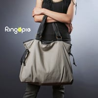New Year's Sale-Ready To Ship-Ringopie Everyday Canvas Tote Bag(light gray)/diaper bag/school bag/handbag/purse/women/For Her-050