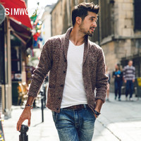 Simwood Sweater Men 2016 New Brand Autumn Winter Turn-down Collar Knitted Cardigans Pull Homme Plus Size Free Shipping MY370