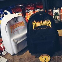 Thrasher College Stylish Hot Deal Casual Back To School Comfort Canvas Backpack [9544306951]