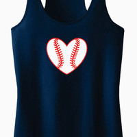 Baseball Heart Racerback Tank Top