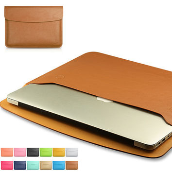 "MacBook Air 11"" 13"" Retina 13"" 15"" Pro 15"" 12""  Mac 12"" Case Cover PU Leather Bag Handbag"