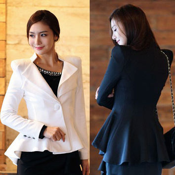 2015 Spring And Autumn Short Coat Korean Women Slim Small Suit Temperament A For Grain Of Button Tuxedo Suit Small