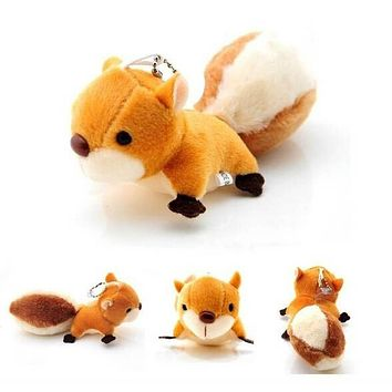 New Cute Doll Stuffed Toy Squirrel Pendant Handbag Ornaments Pendant Plush Toy Gift