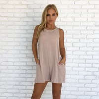 Keeper Romper in Mocha