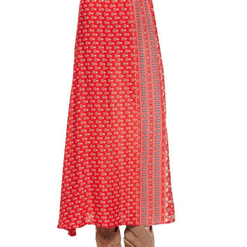 Gypsiana Maxi Skirt, Red Bandana, Size: