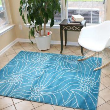 Floral Modern Area Rugs