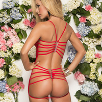 Ruby Luxe Babydoll and G-String