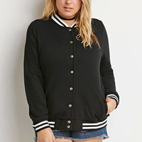 Varsity-Striped Baseball Jacket