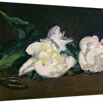 A Twig of White Peonies with Pruning Shears, 1864 Giclee Print by Edouard Manet at Art.com