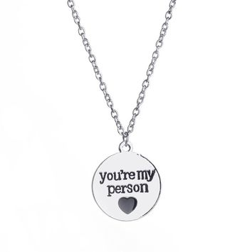 You Are My Person Couple Pendant Necklace