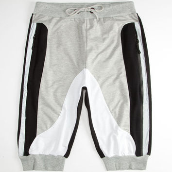 Uncle Ralph Colorblock Mens Jogger Shorts Grey  In Sizes