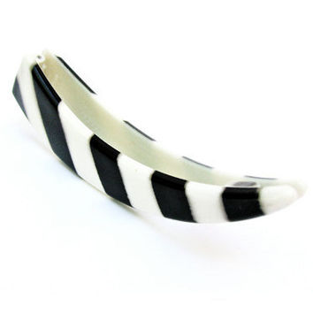 Vintage Hair Clip Katy Perry Chic Black White - Pince à Cheveux. Vintage Jewelry by My Chouchou on Etsy.