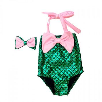 Alana Pink Bow Swimsuit