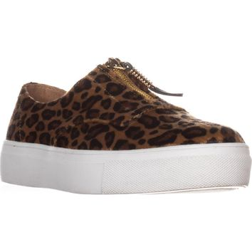 madden girl Kudos Zip Fashion Sneakers, Leopard, 7 US