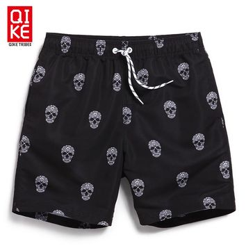 Board shorts men swimwear sweat running s beach skull man swimsuit