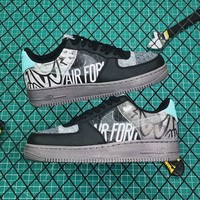 Nike Air Force 1 Graffiti Inspired Graphics AF1 Low 'Off Noir' Sneakers - Best Online Sale