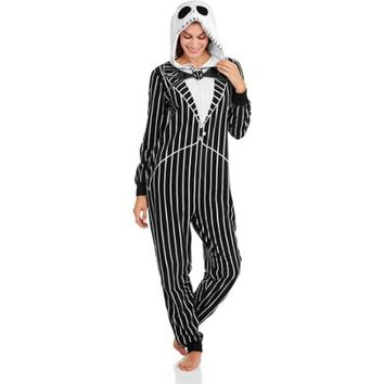 nightmare before christmas one piece pajamas walmartcom