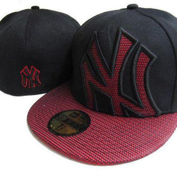New York Yankees New Era Mlb Authentic Collection 59fifty Cap Black Red Lattice