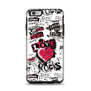The Grunge Love Rocks Apple iPhone 6 Plus Otterbox Symmetry Case Skin Set