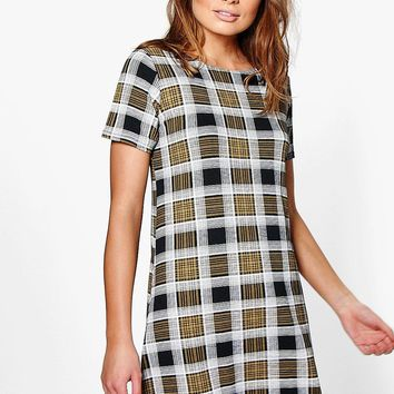 Naomi Printed Shift Dress | Boohoo