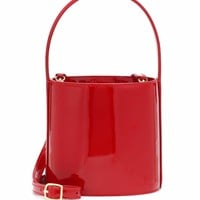 Bissett patent leather bucket bag