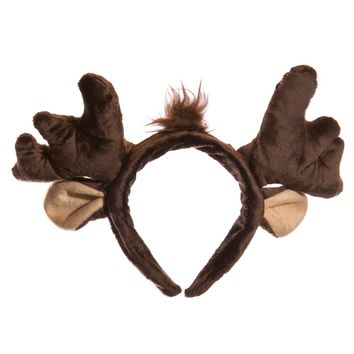 Wildlife Tree Plush Moose Ears Headband Accessory for Moose Costume, Cosplay, Pretend Animal Play or Forest Animal Costumes