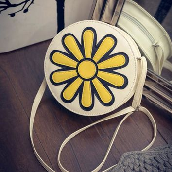 Rushed Price Women Shoulder Bag Circle Sunflower Satchel Cross body Purse Messenger  bags luxury handbags women bags designer
