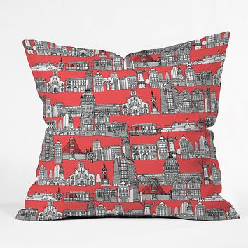 Sharon Turner San Francisco Coral Throw Pillow