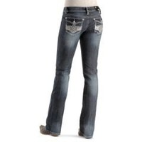 Sheplers: Grace In LA Embellished Floral Flap Pocket Jean - 33""