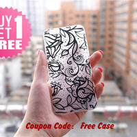 Black Rose Clear Phone Case Cover for iPhone 6 6s plus 6 6s 5s 5 4s 4 , Ctystal Clear iPhone 6 6s Case , Custom Clear iPhone 6 6s Case