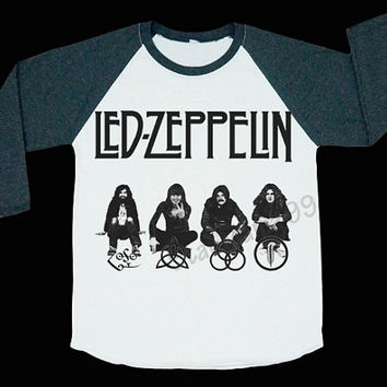 Led Zeppelin Shirts Hard Rock T Shirt Heavy Metal Rock T Shirt Baseball Shirt Long Sleeve Shirt Women T-Shirt Unisex T-Shirt Size S,M,L