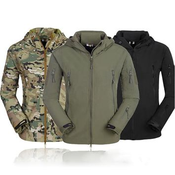 Tactical Motorcycle Jackets Waterproof Racing Jersey Camouflage Hunting Camping Thermal Fleece Lining Coat Mountain Wear jacket