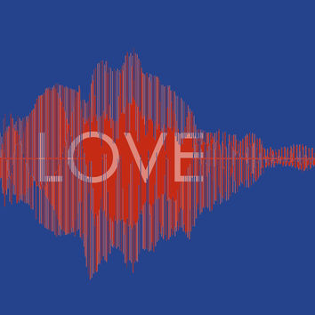 Custom Waveform - 16x20 LOVE CANVAS