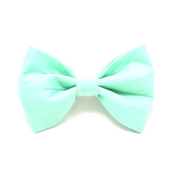 Mint Green Hair Bow Barrette