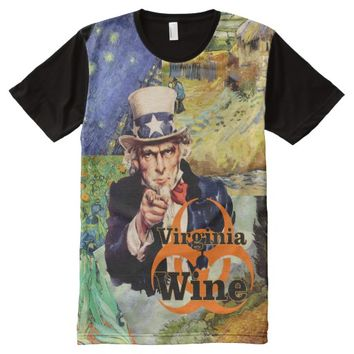 Remember Virginia Wine is a Biohazard All-Over-Print T-Shirt