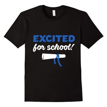 Excited for school! Relaxed Fit Cotton T-shirt for Boys