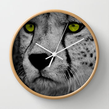 Cheeting Eyes Wall Clock By Catspaws From Society6