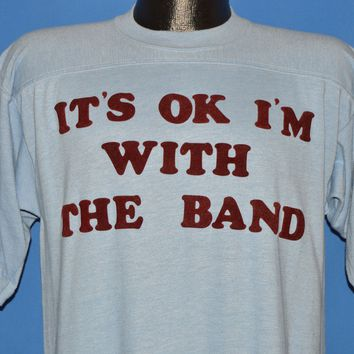 80s Its Ok I'm With The Band Fuzzy Letters t-shirt Medium
