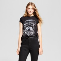 Women's Johnny Cash® Graphic T-Shirt Black (Juniors')