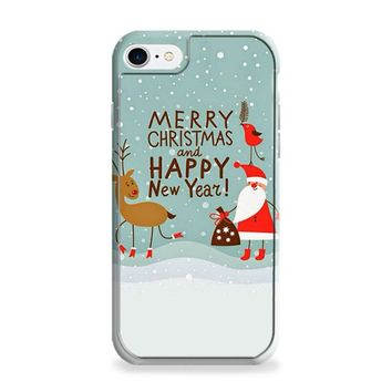 Merry Christmas Cartoon Wallpaper iPhone 6 | iPhone 6S Case