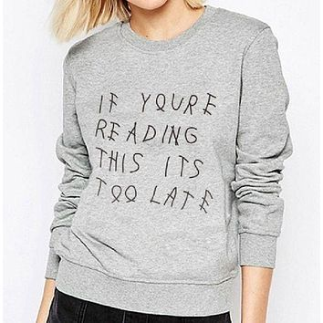 DCCKR2 [IF YOU RE READING THIS ITS TOO LATE] fashion men and women with cotton letter sweater