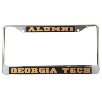 Georgia Tech University Yellow Jackets Alumni License Plate Frame