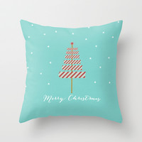 Merry Christmas Throw Pillow by her art