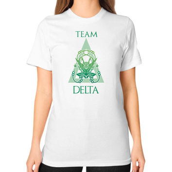 Team Delta Unisex T-Shirt (on woman)
