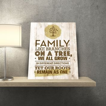 Family Branches 11 x 14 Canvas Set (Free Shipping)