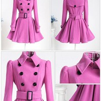 ac DCK83Q Fall Winter Fashion 2016 Coat Women's Fashion Winter Jacket Waistband Trenchcoat [9036968268]