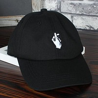 Love Gestures Finger Embroider Golf Baseball Cap