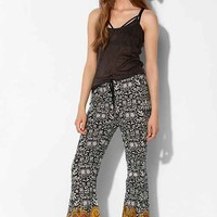 Band Of Gypsies Paisley Flare Pant- Black & White L